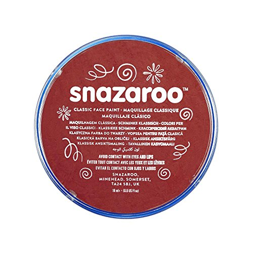 Snazaroo Classic Face Paint, 18ml, Burgundy (Best Stain Remover For Clothes In India)
