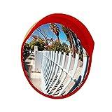 ✊GJJ Outdoor Traffic Road Convex Mirror PP Material Impact Resistant Supermarket Anti-Theft Mirrors 100CM 420 (Color : B, Size : 100cm)