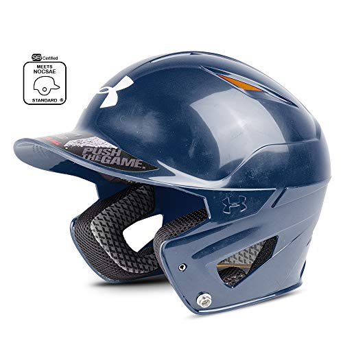 Under Armour Converge Batting Helmet - Solid Coated, Navy Blue ()