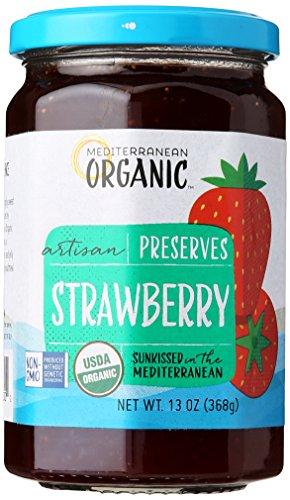 Mediterranean Organics Preserve Strawberry, 13 oz - Organic Strawberry Preserves