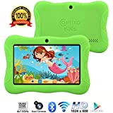"Contixo Kids Tablet K3 | 7"" Display Android 6.0 Bluetooth WiFi Camera Parental Control for Children Infant Toddlers w/Free Tablet Case (Green)"