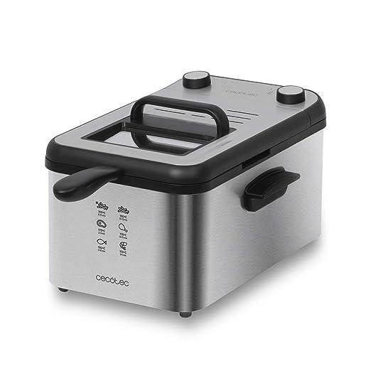 Cecotec CleanFry 3000 Full Inox, Freidora eléctrica, 3 L ...