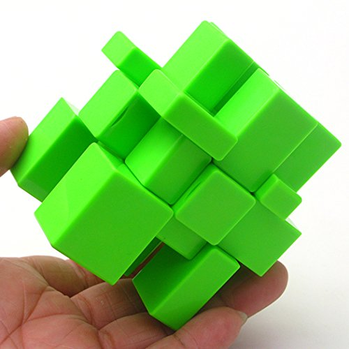 Mirror Speed Cube 3x3 Dysmorphism Magic Cube Puzzle Toy Green