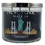 Bath & Body Works Candle 3 Wick 14.5 Ounce 2015 New York Black Tie