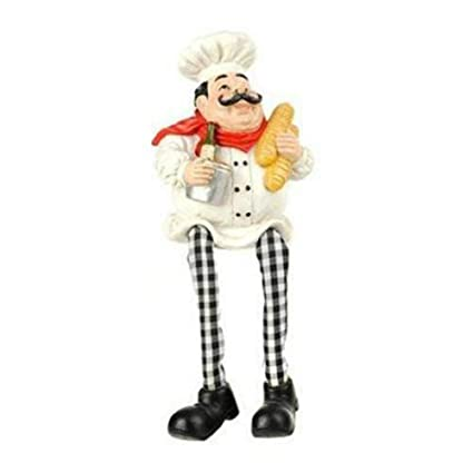 Amazon.com: Dangling Legs Fat Chef Statue. Fat Chef Kitchen ...