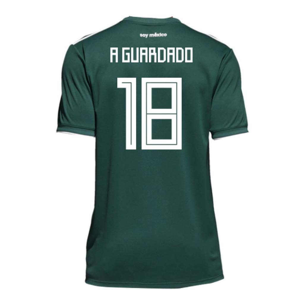 2018-19 Mexico Home Football Soccer T-Shirt Trikot (Andres Guardado 18) - Kids