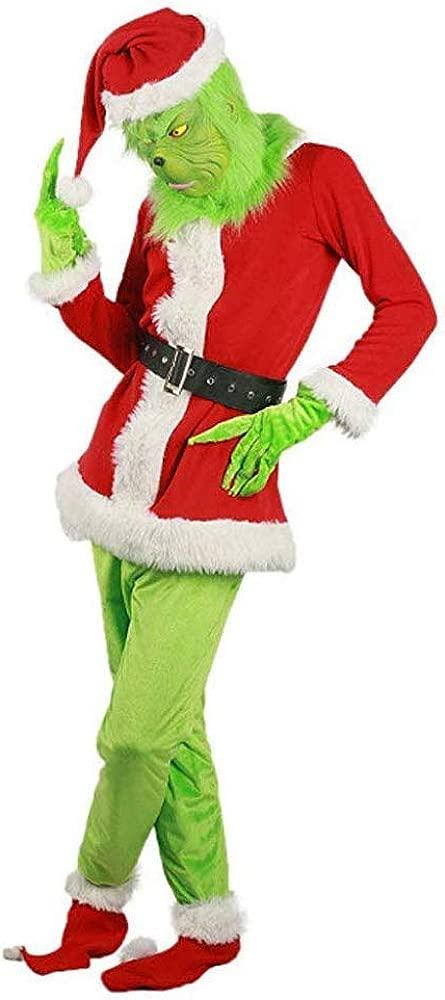 Alisoya Disfraz De Monstruo Verde, Disfraz De Grinch Cosplay ...
