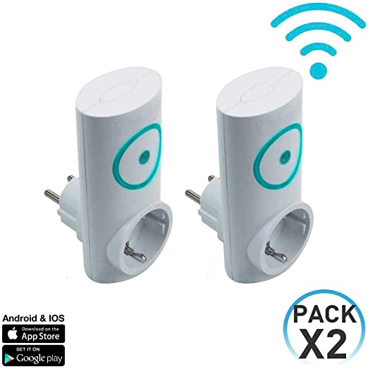 7hSevenOn Home Pack 2 Enchufes Inteligentes WiFi Controladores de ...