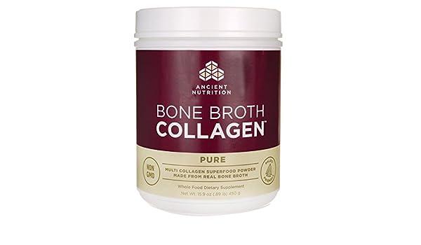 Ancient Nutrition - Pure de colágeno de caldo de hueso - 15.9 oz.: Amazon.es: Salud y cuidado personal