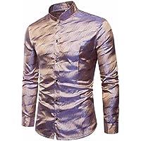 Litetao Clearance Men Business Dress Shirt Stripe Long Sleeve Button Shirts Top Formal Blouse