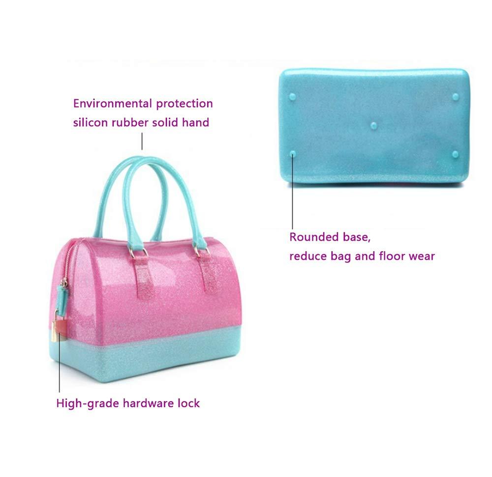 luckba dam handväska, gelé väska axel budbärare, transparent kristall PVC vattentät D