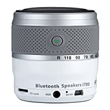HYUNDAI Camera Lens Style Bluetooth Mini Speaker i700 V3.0 Support TF Card/hands free call For Mobile Phone Computer Tablet (Silver)
