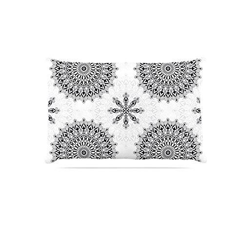 Kess InHouse Julia Grifol Black Mandala  White Black Fleece Dog Bed, 30 by 40