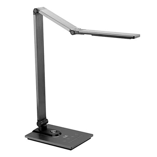 Le dimmable led desk lamp metal table lamps with usb output port 3 color