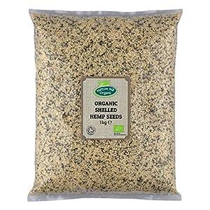 Organic Shelled (Hulled) Hemp Seeds 1kg by Hatton ...