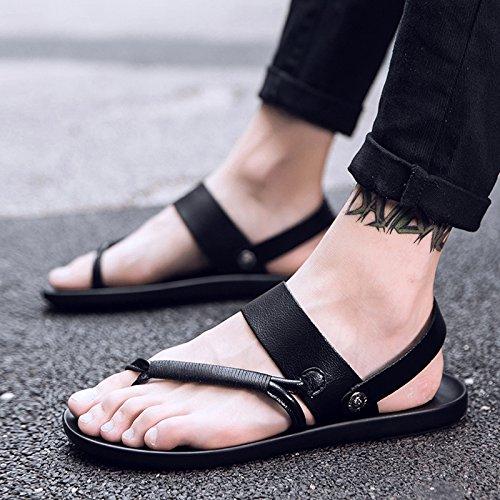 Sandales homme 42 nbsp;Wild Chaussures Noir lin Angleterre pour antidérapant d'été Cool Trend homme Tong Sandales Clip NEUF xing Sandales OaqAYAw