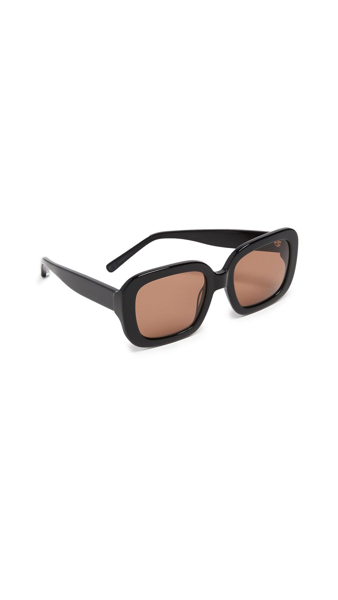 Elizabeth and James Women's Haley Square Sunglasses, Black, 53 mm