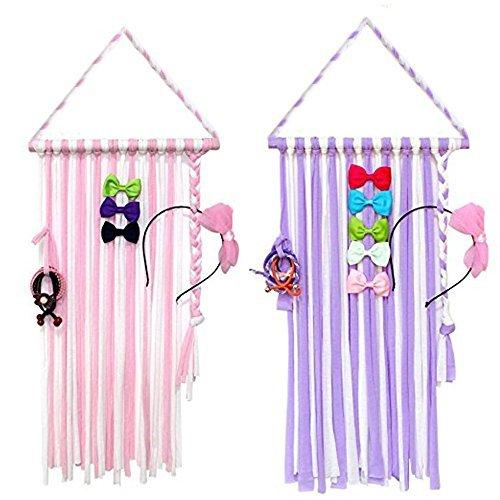 (Joylish Hair Bow Holder Organizer for Girls, Hanging Storage for Baby Girl Hair Headbands Clips)