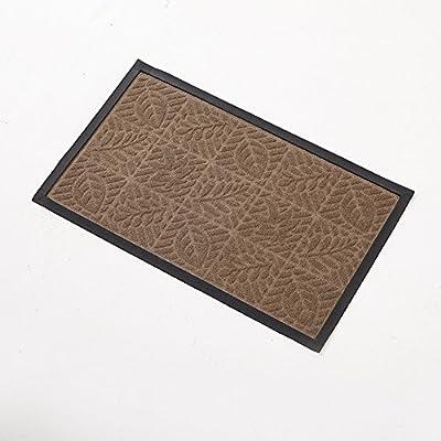 Amagebeli Outdoor Doormats Outside for Front Door , Red Leaves Floral Rectangular Doormat , Non-Slip Brown Rug , Entrance Carpet , Rubber Patio Blocks Floor Mats