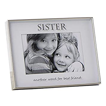 ukgiftstoreonline Sister Photo Frame Gift With Sentiment Mirrored ...