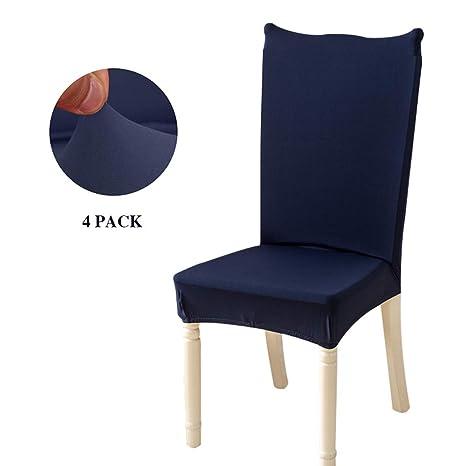 Feilaxleer Fundas para sillas Comedor elásticas Universal Pack de 4 ...