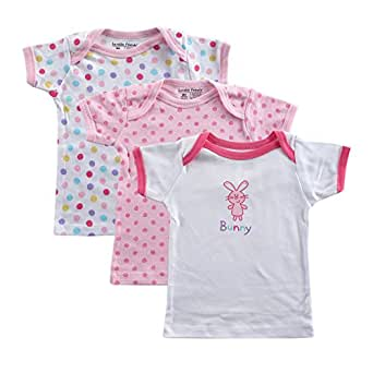 3-Pack Hanging Tee Tops, Bunny, 3-6 months