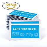 YIYAYIYAYO Pre-Moistened Lens Cleaning Wipes for Lens Eyeglasses Camera Cell Phone Screen, 5 x 7 inches, 100 Pieces