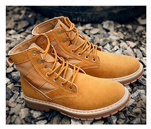 HL-PYL - Martin Stiefel zu helfen kurze Stiefel Die koreanische Version zu helfen Der koreanischen Platte Rutschfeste und Wear-Resistant und Antiantique 42 Braun