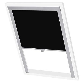 Vidaxl Store Enrouleur Occultant Noir M06306 Rideau Pour Fenêtre De