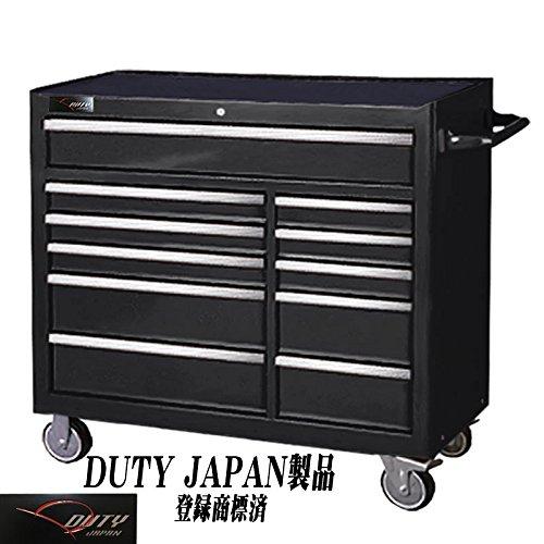 Duty Japan ワイドローラーキャビネット (ブラック)  ブラック B06X9JXS2M