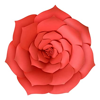 Amazon Com 30cm 1pcs Large Red Paper Flowers Backdrop Flower Wall