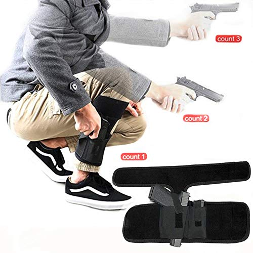 Hidden carrying pistol | Universal leg carrying holster with ammo bag for Glock 42, 43, 36, 26, S&W Bodyguard .380.38, Ruger LCP, LC9, Sig Sauer380, M&P Shield, Sig Sauer, p238, revolver, 38 special ,