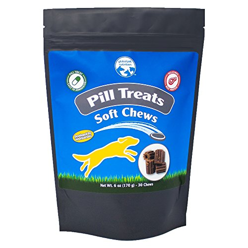 Global Pet Nutrition Beef & Bacon Flavored Pill Treat Soft Chews For Dogs | Excellent Taste & Texture For Picky Dogs | 30 Chews