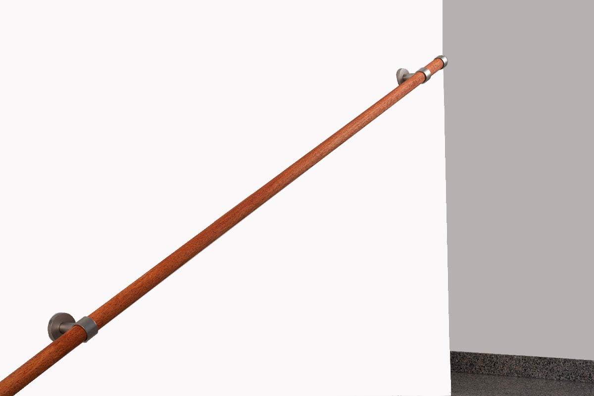 Capacidad para soportar 80 kg de Longitud en Madera 28 mm 180 cm Completo InCasa Pasamanos de di/ámetro