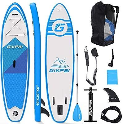 Fixget – Tabla de Surf Unisex para Adultos, Tabla de Surf de 33 Pulgadas, Capacidad de Carga 330 Pound Ajustable, Hinchable, 6 Pulgadas, Azul