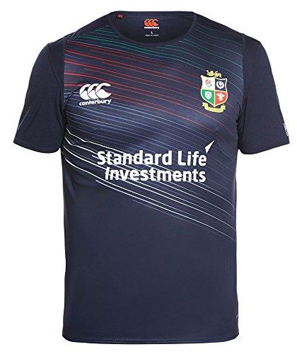 Irish Lions Rugby - Canterbury Vapodri British and Irish Lions Superlight Training T-Shirt - SS17 - Small - Navy Blue