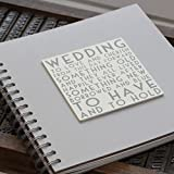 Wood Words Wedding Book Scrapbook or Guest Book Gift By East Of India by ukgiftstoreonline