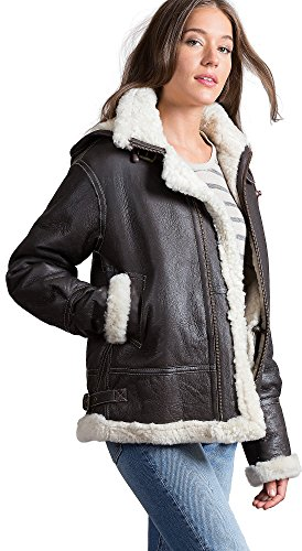 Women Sheepskin Jackets For (Jane Sheepskin B-3 Bomber Jacket)