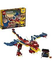 Lego 6288725 Lego Creator Lego Creator 3In1 Vuurdraak 31102 Bouwset. Cool Speelgoed Om Zelf Te Bouwen Voor Kinderen Die Houden Van Vuurspuwende Draken, Een Geweldig Cadeau-Idee Voor Kinderen Die Dol Zijn Op Lego Speelgoed (234 Onderdelen), Multicolor