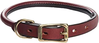 "product image for Mendota Products Leather Rolled Collar - Chestnut - 3/4"" x 16"""