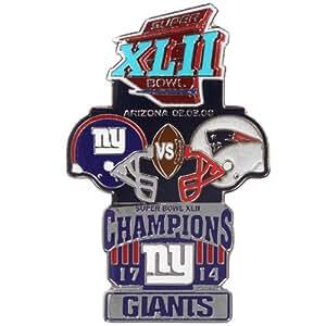 NFL New York Giants Historic Super Bowl Collectors Pin - Super Bowl XLII