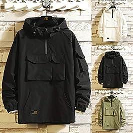 FORUU Fashion Jacket for Men,Clerance Trendy Fashion Loose Fit Casual Cap Plus Size Comfortable Jacket Coat