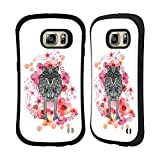 Official Monika Strigel Wolf Animals And Flowers 2 Hybrid Case for Samsung Galaxy S6 edge+ / Plus