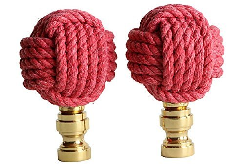 Finials For Lamps Interesting Amazon Nautical Knot Lamp Finials In Red On Shiny Brass Bases