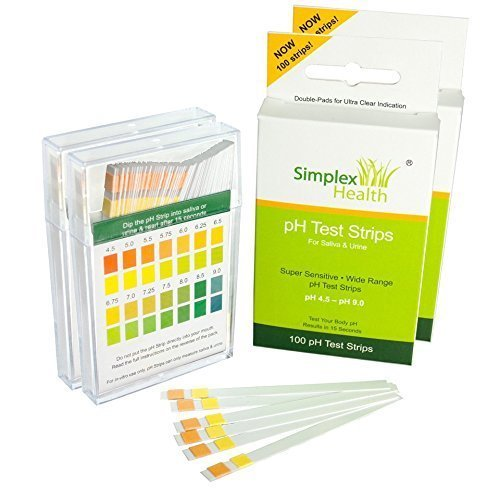 (Doppelpack 200 Stück) pH Teststreifen Urin & Speichel by Simplex Health