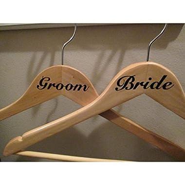 Bride/Groom vinyl decal for hangers [Kitchen]