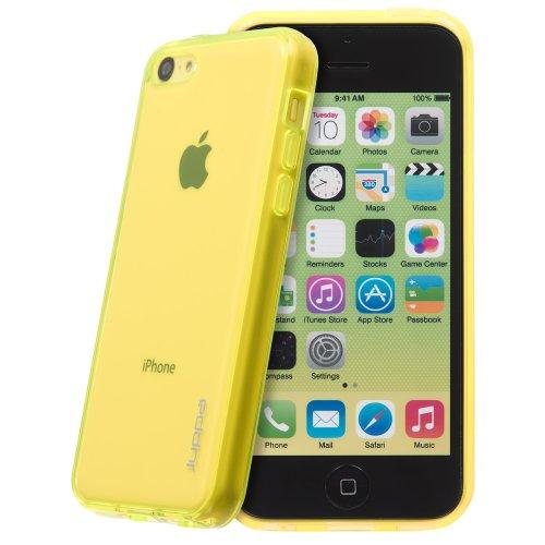 Juppa® Apple Iphone 5C TPU Silikon Tasche Hülle Schutzhülle mit LCD displayschutzfolie - Gelb / Yellow