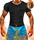 Men Weighted Loss Waist Trainer Body Shapers Cami Hot Thermal Top Sweat Sauna Shirt