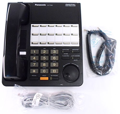 Panasonic KX-T7420 12-Button Non-Display Speakerphone - Refurbished (Black) (Display Speakerphone)
