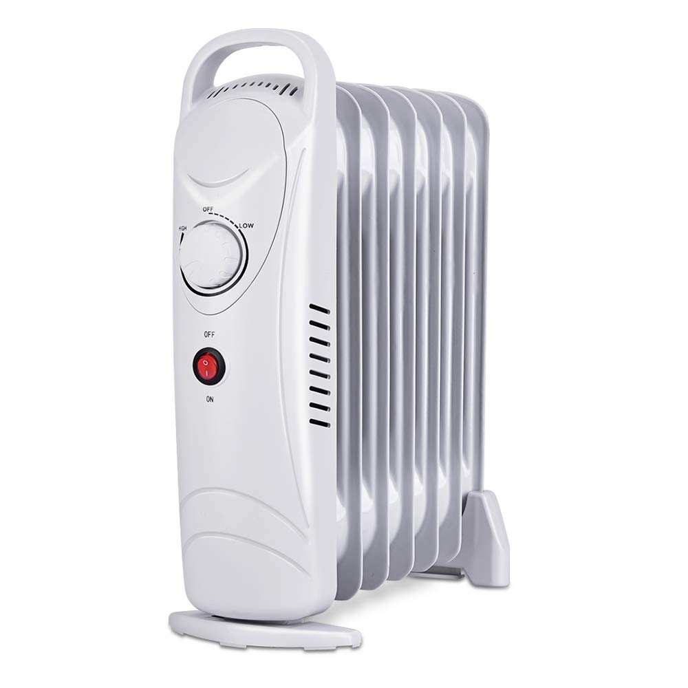Trustech Oil Heater, Overheating Protection, Portable Compact Mini Radiator for Home and Office, 700W, Small, White
